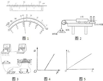 多用电表表盘示数如图1所承