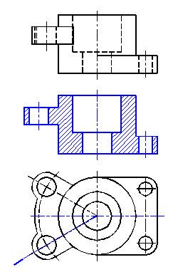 机械制图半剖视图_机械工程:机械制图考试答案(每日一练) - 考试题库 - 91考试网